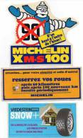 Autocollant X 3 Automobile - Pneu Michelin, Vredestein Snow - Autocollants