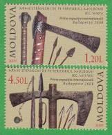 MOLDOVA ,  MOLDAVIE  ,  MOLDAWIEN  , MOLDAU ,  Medieval Weapons , 2009 , MNH - Moldova
