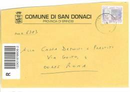SAN DONACI  72012 PROV. BRINDISI  - ANNO 2004 - R -  TEMA TOPIC COMUNI D´ITALIA - STORIA POSTALE - Affrancature Meccaniche Rosse (EMA)