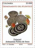 Lote 19c3, Colombia, 2010, Atlantico, Artesanias Palma De Iraca, Crafts Stamp - Colombia