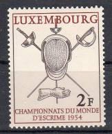 1954, Luxembourg - Championnats Du Mone D'escrime , Y&T No. 482, Neuf **, Lot 36950 - Nuevos