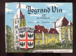 Etiquette De Vin De Table    Legrand  à Senonche (28) - Castles