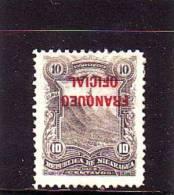 1893 Nicaragua Oficial # O70, Inverted Optd, MH* . See Scan - Nicaragua
