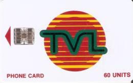 TARJETA DE VANUATU DE 60 UNITS TVL CHIP CENTRADO Y UNA NUMERACIÓN - Vanuatu