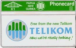 TARJETA DE PAPUA Y NUEVA GUINEA DE TELIKOM  NUEVA-MINT - Papua Nueva Guinea