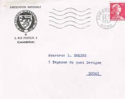 Enveloppe Avec En Tête: *ASSOCIATION NATIONALE Flandres - Dunkerque. CAMBRAI* 1959* - Marcophilie (Lettres)