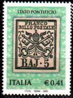 PIA - ITALIA - 2002 : 150° Anniversario Dell´emissione Dei Francobolli Dello Stato Pontificio   - (SAS  2650) - 6. 1946-.. Repubblica