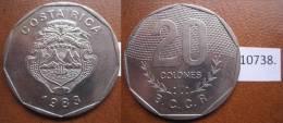 Costa Rica 1983 20 Colones - Monnaies