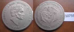 Colombia 50 Centimos 1959 - Otros – América