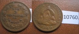 Honduras 2 Centimos 1949 - Monnaies