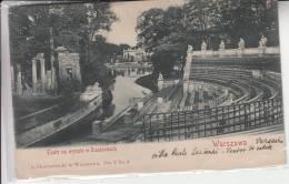 WARSZAWA Teatr Na Wyspie W Lazienkach Vg 1900 Originale D'epoca 100% - Polonia