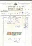 Factuur Fabriek Van Lederwaren PHENIX - Seynaeve - Lagae Kortrijk 1956 - Belgium