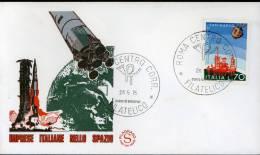 1975 IMPRESE SPAZIALI ITALIANE S.MARCO FDC FILAGRANO SPAZIO SPACE ESPACE RAUM - Europa