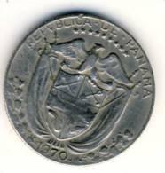 1970 Panama One Quarter Balboa Coin In Very Nice Condition - Panama