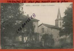 CPA 88,   MENIL-sur-BELVITTE ,  L'Eglise Et Le Presbytère , Scènes & Types,  Nov 2012 GER-0638 - Francia