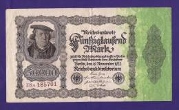GERMANY, 1922, Banknote,  USED VF.  , 50.000  Mark Km 79 (folded) - [ 3] 1918-1933 : Weimar Republic