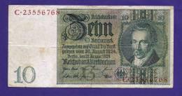 GERMANY, 1929, Banknote,  USED VF.  , 10 Reichsmark (wm Thaer) Km 180 (FOLDED) - [ 3] 1918-1933 : Weimar Republic