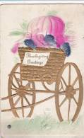 Thanksgiving Turkey Pulling Cart Of Vegetables - Mechanical