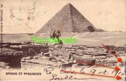 CPA EGYPTE EGYPT SPHINX ET LES PIRAMIDES LE CAIRE - Egypte