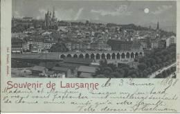 Litho Souvenir De  Lausanne En 1898 - VD Vaud