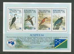 Solomon Islands   Birds  (Auxipex' 84) Souvenir Sheet  SC# 538a MNH** - Solomon Islands (1978-...)