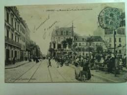 """Cpa """"  LORIENT  """" Le Marche De La Place Alsace Lorraine E """"  Ref 0043  """" Port 0.50 Euro - Lorient"""