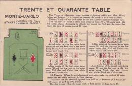 Monte Carlo Trente Et Quarante Table 1925 - Postcards