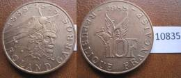 Francia 10 Francos 1988 Roland Garros - Monedas