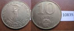 Hungria 10 Forint 1985 - Monedas