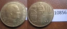 Monaco 10 Centimos 1982 - Monedas