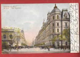 Q0940 Republica Argentina Buenos Aires, Avenida De Mayo,Pioneer.Circulé En 1905 Vers Bern Suiza - Argentinië