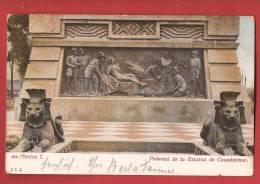 Q0959 Pedestal De La Estatua De Cuauhtemoc. Pli Angle Supérieur Gauche.Circulé Avec Timbre Suisse - Mexiko