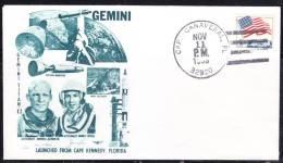 R)1962FDC ESTADOS UNIDOS, GEMINI TITANIC 12, ASTRONAUT EDWIN E. ALDRIN J R. ASTRONAUT JAMES LOVELL, LAUNCHED FROM CAPE - Stati Uniti