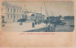 Cpa-italia-puglia-brindis I-via Marina E Nuova Capitaneria Di Porto - Brindisi