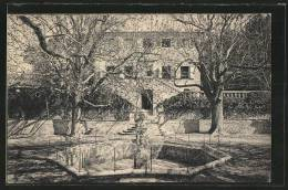 CPA Tholonet, Brunnen Vor Dem Schloss - France