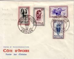 COTED'IVOIRE-ABIDJAN 1ER JOUR SERIE MASQUE DU 5 MARS 1960. - Côte D'Ivoire (1960-...)