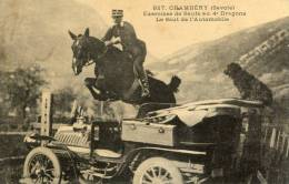 CPA 73 CHAMBERY EXERCICES DE SAUTS AU 4 DRAGONS LE SAUT DE L AUTOMOBILE 1913 - Chambery