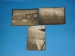 3 Photos Originales Avion De Guerre WW1 Militaire (avion De Bombardement)voir Legende Au Dos - Aviation