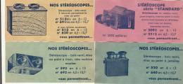 4 Bon Publicitaire Stereo Stereoscope Guilleminot Mattey Recto Verso - Photos Stéréoscopiques