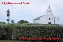 Lighouses Of Spain - Asturias/San Agustin-Ortiguera Postcard Collector - Faros