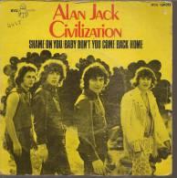 """45 Tours SP - ALAN JACK CIVILIZATION - BYG 129013 -  """" SHAME ON YOU """" + 1 - Vinyl-Schallplatten"""