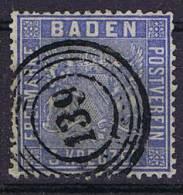 German States: Baden, Mi 10 C, Cancelled,  Cv 230 Eiro - Baden