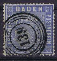 German States: Baden, Mi 10 C, Cancelled,  Cv 230 Eiro