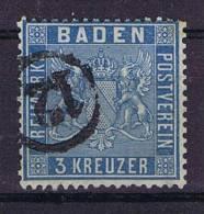 German States: Baden, Mi 10 A, Cancelled, - Baden