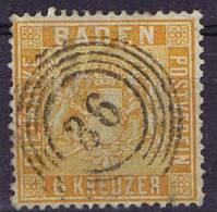 German States: Baden, Mi 11 B, Cancelled,