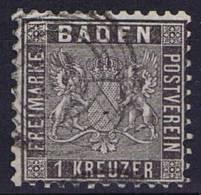 German States: Baden, Mi 13 A , Cancelled,