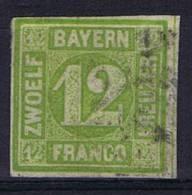 German States: Bayern, Mi 12  Cancelled, - Bavaria