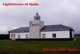 Lighouses Of Spain - Asturias/Cabo Busto Postcard Collector - Faros