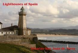 Lighouses Of Spain - Asturias/San Juan De Nieva Postcard Collector - Faros