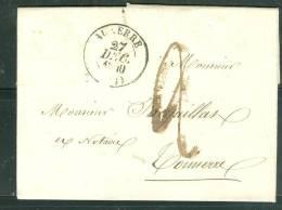Cad Auxerre 1840 Sur Lac Pour TONNERRE   - Am3403 - Marcophilie (Lettres)